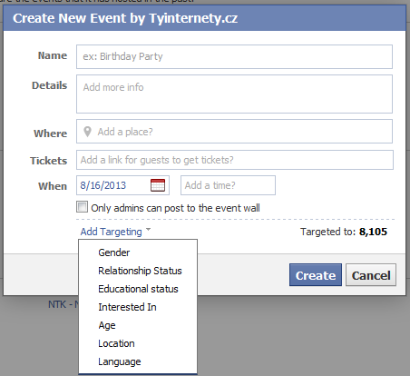 event targeting
