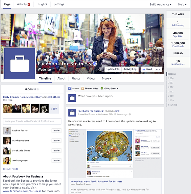 new fb page look