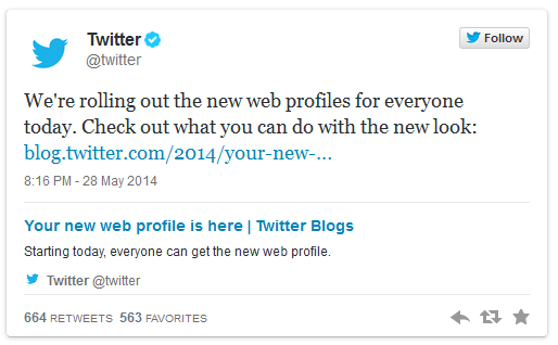 twitter profiles rolling out