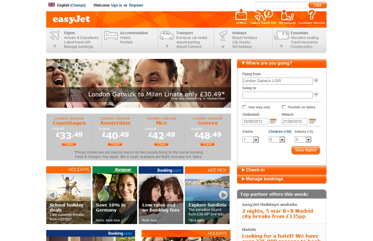 easyjet_personalised web