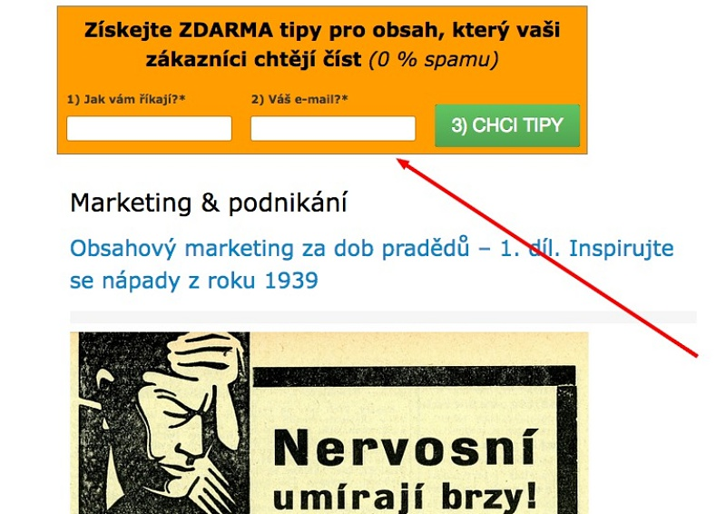 obsahový marketing