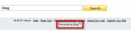 Yahoo - powered by Bing