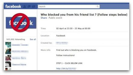 Who blocked you from his friend list?