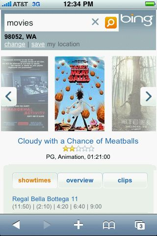 Bing for Mobile Movies