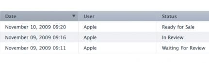 Apple Application Status